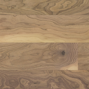Parquet Walnut AB pure Line, 1-strip, brushed, beveled, lacquer 5%