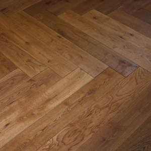 Floorboards Oak Rustic Fishbone brown