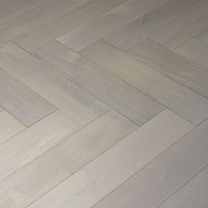 Floorboards Oak Fishbone white oiled