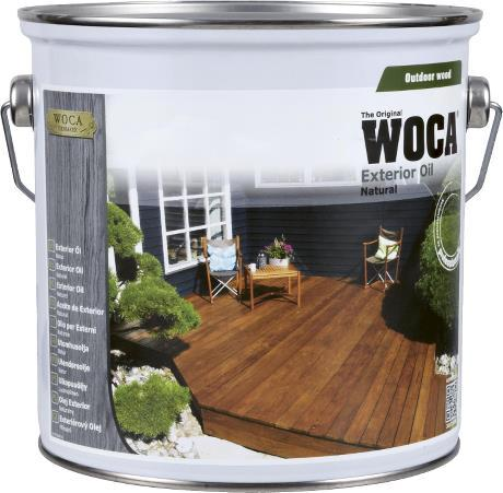Õli välitingimustesse WOCA Exterior Oil Anthracite grey (hall) 0,75L
