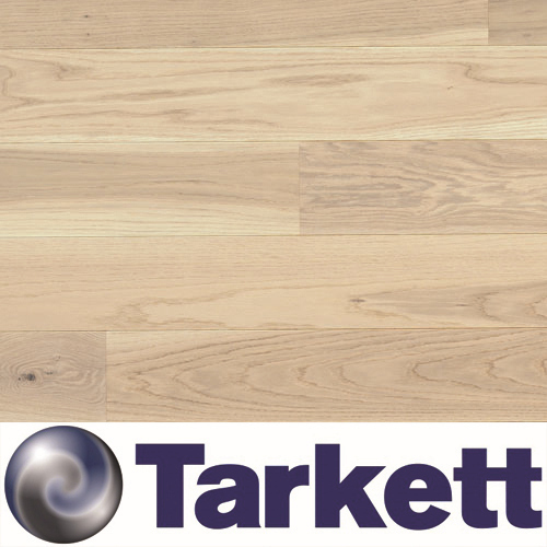 Parquet Tarkett, Shade, Oak Antique White Plank 14mm, 1-strip, 2 sides bevelled, brushed, stained, Proteco Natura mat lacquer