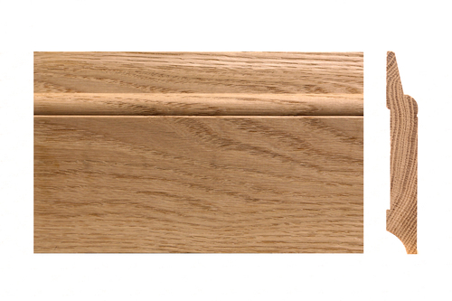 Solid skirting oak 16x100mm profile 9