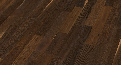 Parquet Smoked oak lively, 3-strip, brushed, naturally oiled