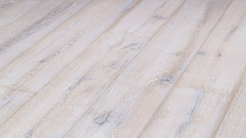 Parquet Meister Lindura White washed rustic oak, brushed, 1-strip, naturally oiled