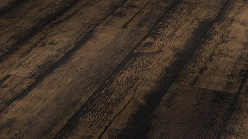 Parquet Meister Lindura Black washed rustic oak 320mm, brushed, 1-strip, naturally oiled