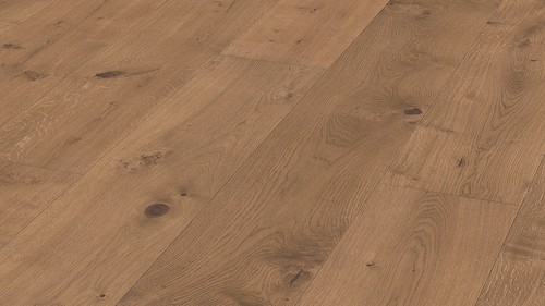 Parquet Meister Lindura Cappuccino rustic oak 320mm, brushed, 1-strip, naturally oiled