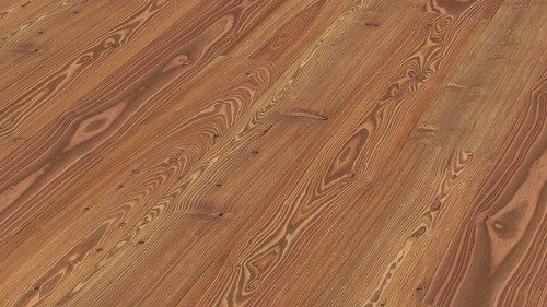 Parquet Meister Golden brown larch lively, brushed, 1-strip, naturally oiled PD400