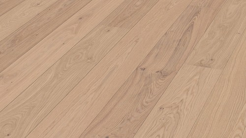 Parquet Meister Off-white oak lively, 1-strip, matt lacquered PD400