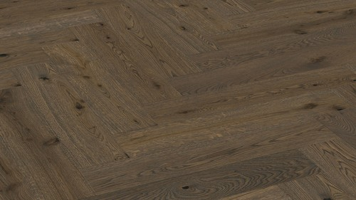 Parquet Meister Authentic olive grey oak, brushed, 1-strip, naturally oiled PS500 Herringbone