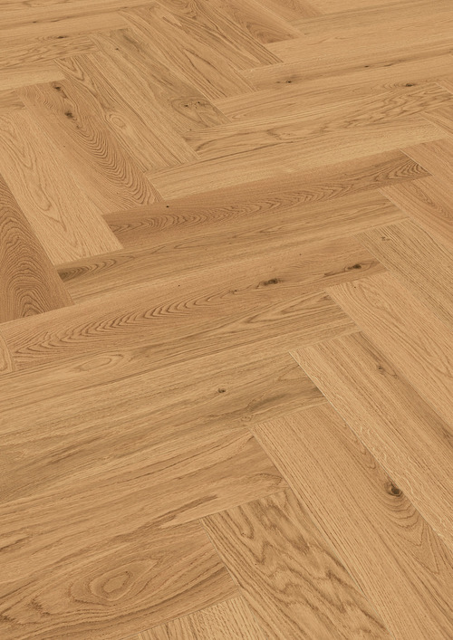 Parquet Meister Natural oak, brushed, 1-strip, matt lacquered PS500 Herringbone