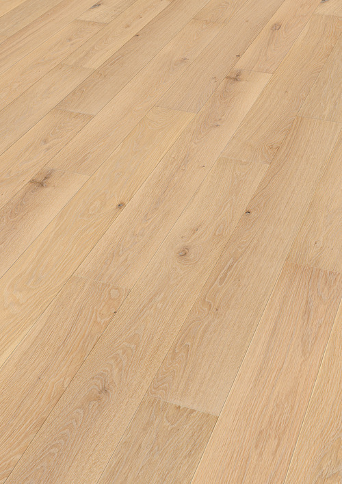 Parquet Meister Limed cream oak lively, brushed, 1-strip, naturally oiled PS300